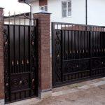 Ворота металлические.